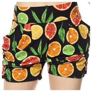 New Mix Shorts - 🎉HP!🎉 Summer Citrus Harem Style Shorts w/Pockets